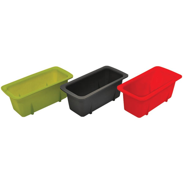 STARFRIT 080335-006-0000 Silicone Mini Loaf Pans, Set of 3 - Mmetr