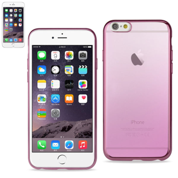 Reiko Iphone6/6S Plus 5.5 Inches Frame Gradient Clear Glitter Case With Shiny Bumper-Pink - Mmetr