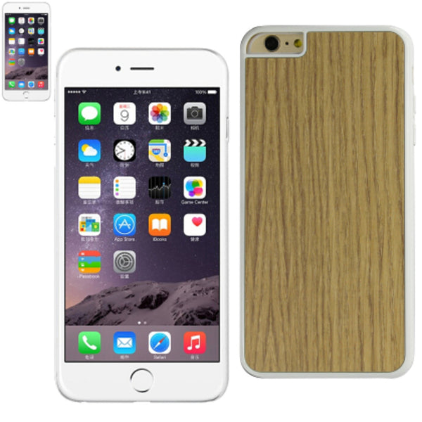Reiko iphone6/6S Plus 5.5inch Wood Pattern and PC Hard case White - Mmetr