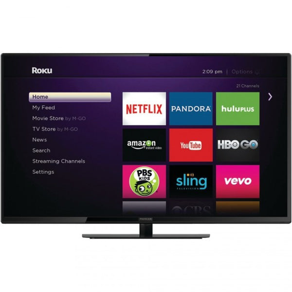 PROSCAN PLDED4030A-E-RK 40 Smart D-LED TV with Roku(R) Streaming Stick(R) - Mmetr