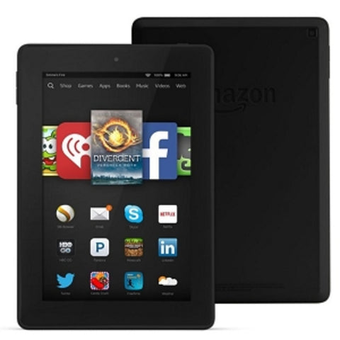 Amazon Kindle Fire HD 6 Quad-Core 1.5GHz 1GB 8GB 6 Touchscreen Tablet Fire OS 4 (4th Generation) (Black) - B