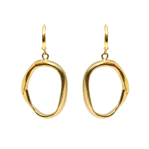 Tat2 Gold Loop Earrings