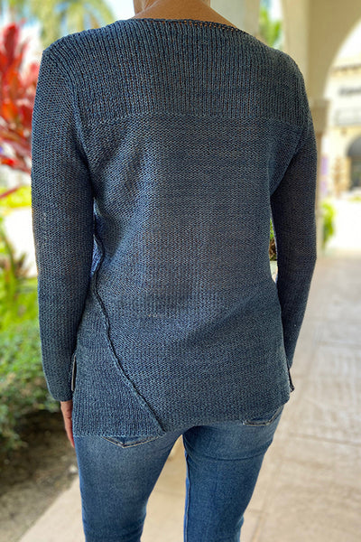 3818 Asymmetric Sweater