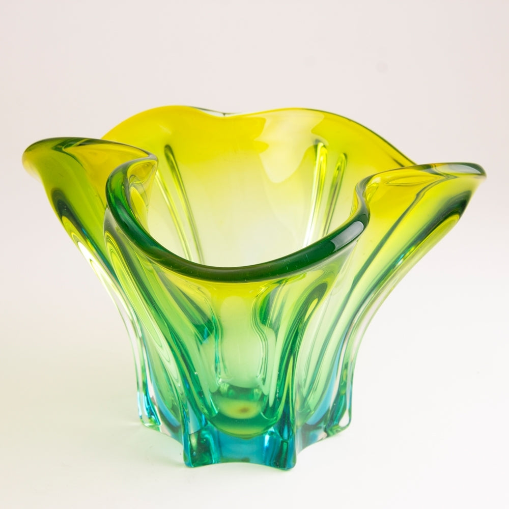 1970s Uranium Art Glass Bowl