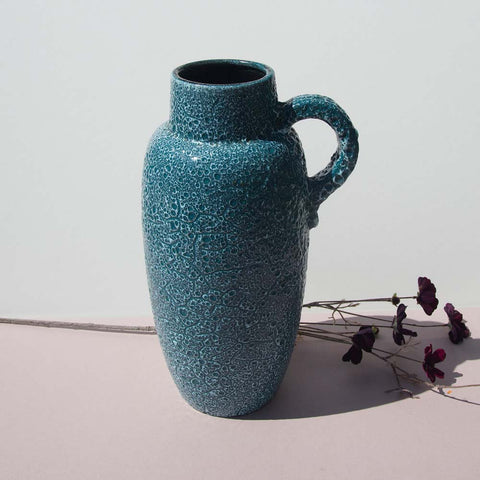 1960/70s Blue West German Floorvase