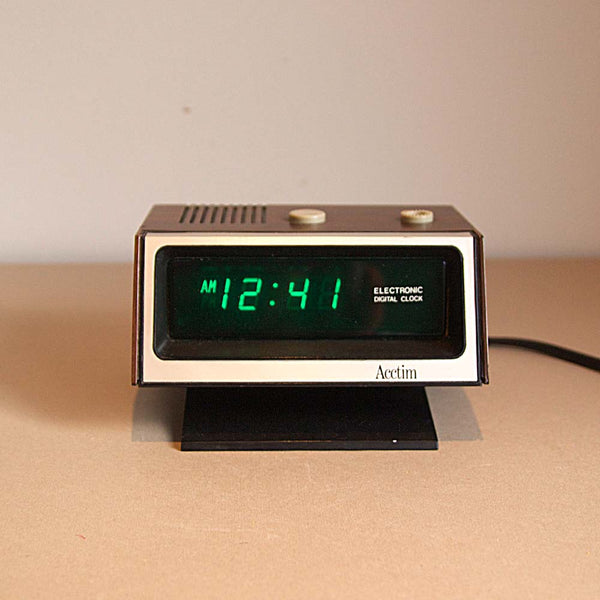 Vintage Acctim Digital Alarm Claock