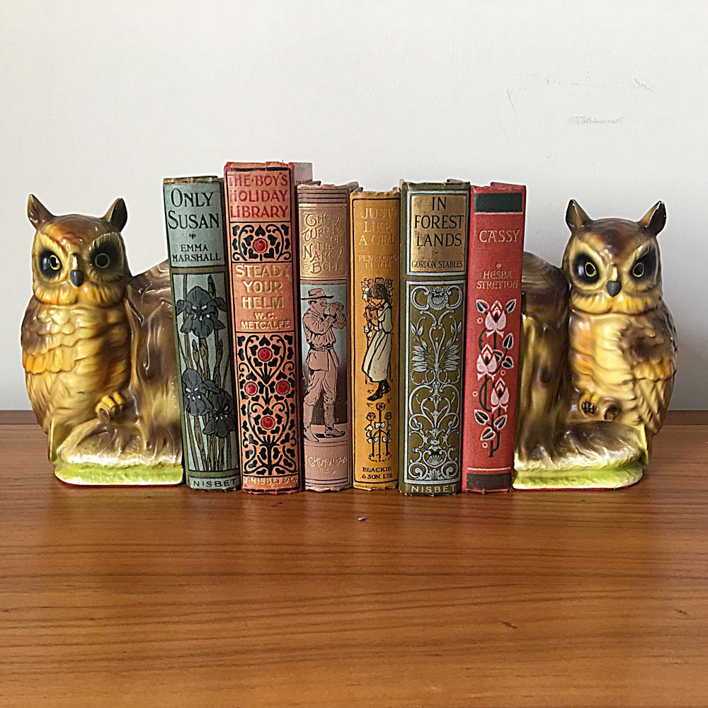 1950s Owl Bookends