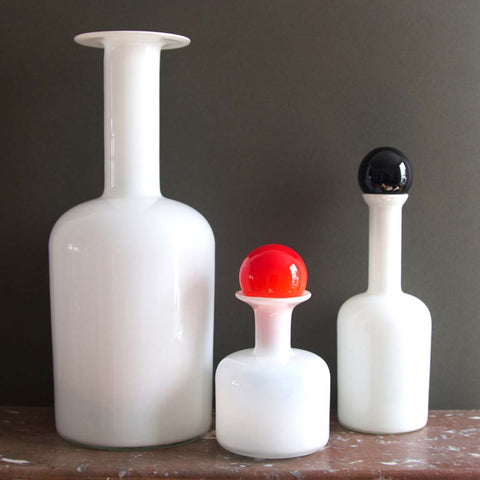 1960s Empoli Decanters with Stoppers