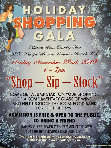 Shop Sip Stock: Nov 22 1-7PM @ 3800 Pacific Ave (Princess Anne Country Club)