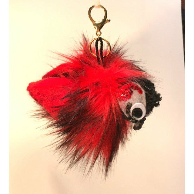 RobinTweets RUDY the Red Bird - RelovedFabrics, - accessories, [product-vendor] - Robin, [shop-name] - robin.boutique