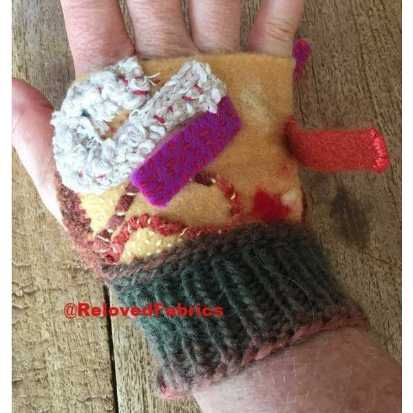 Fingerless Gloves ,Fingers Free, Arm Warmers, Driving Gloves Felt, Embroidered, Knit and Crochet hand shorty gloves n embroidered accents