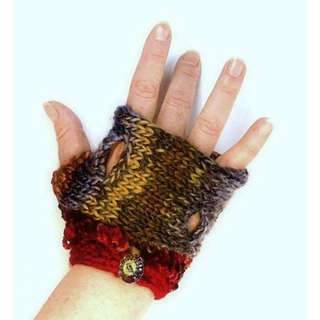 Swiss Cheese Melts Fingerless fingers free gloves or mittens knit pattern. Wonderful to wear year round.
