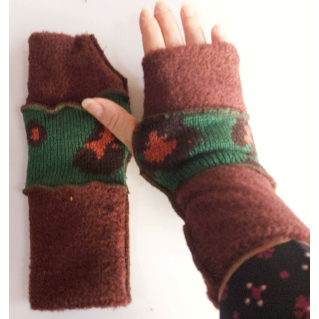 Knit cozy soft Texting fingerless arm warmers gloves in choice of colors FREE SHIPPING USA Mainland