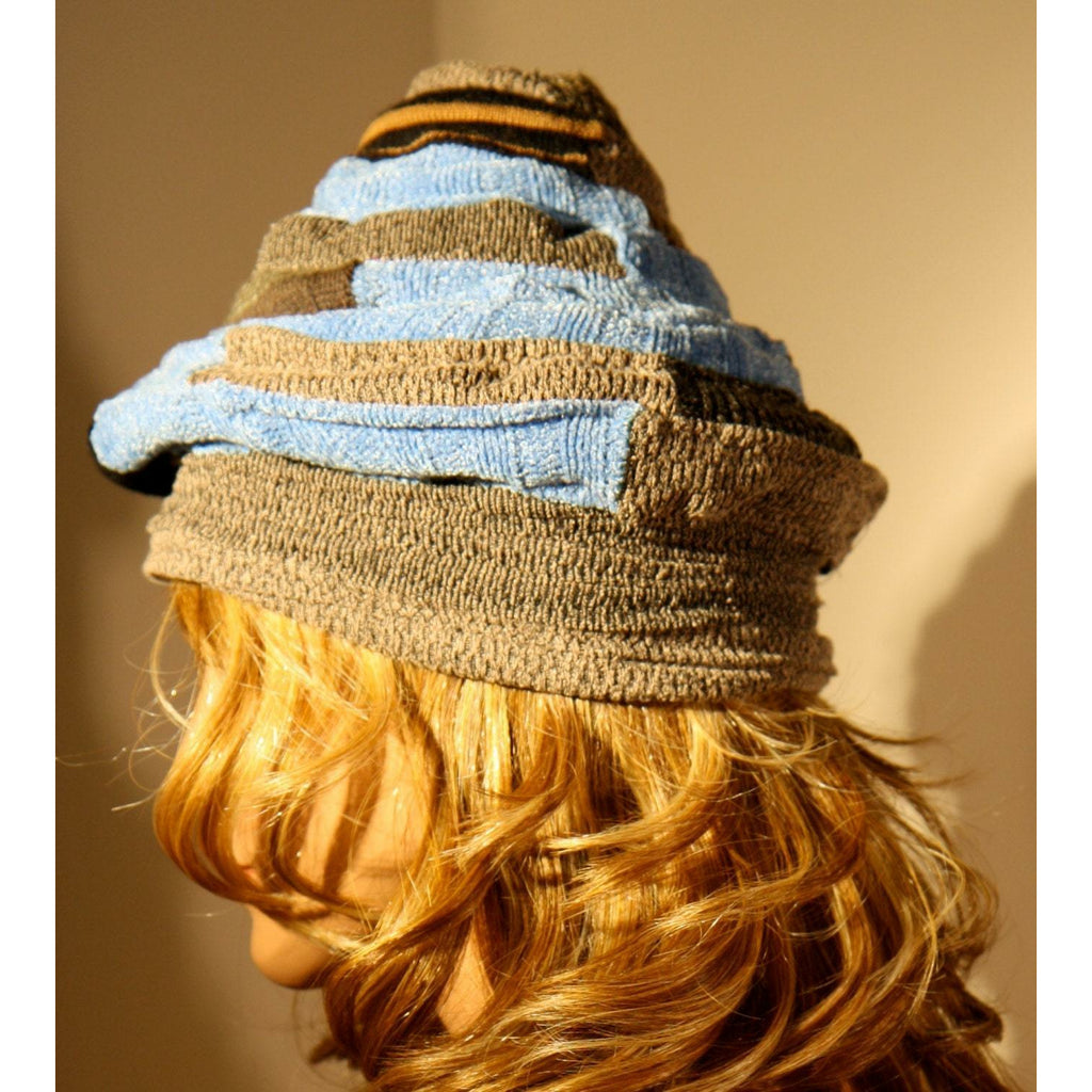 The point! Vegan re-purposed whimsical hat. Versatile. Free shipping mainland USA.