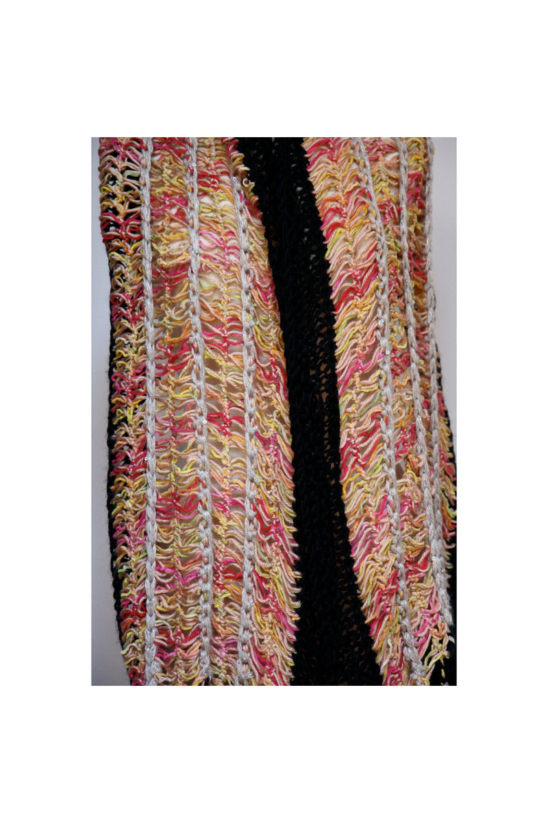 Hairpin crochet lace shawl or scarf in soft cottons. - RelovedFabrics,Scarves - accessories, [product-vendor] - Robin, [shop-name] - robin.boutique