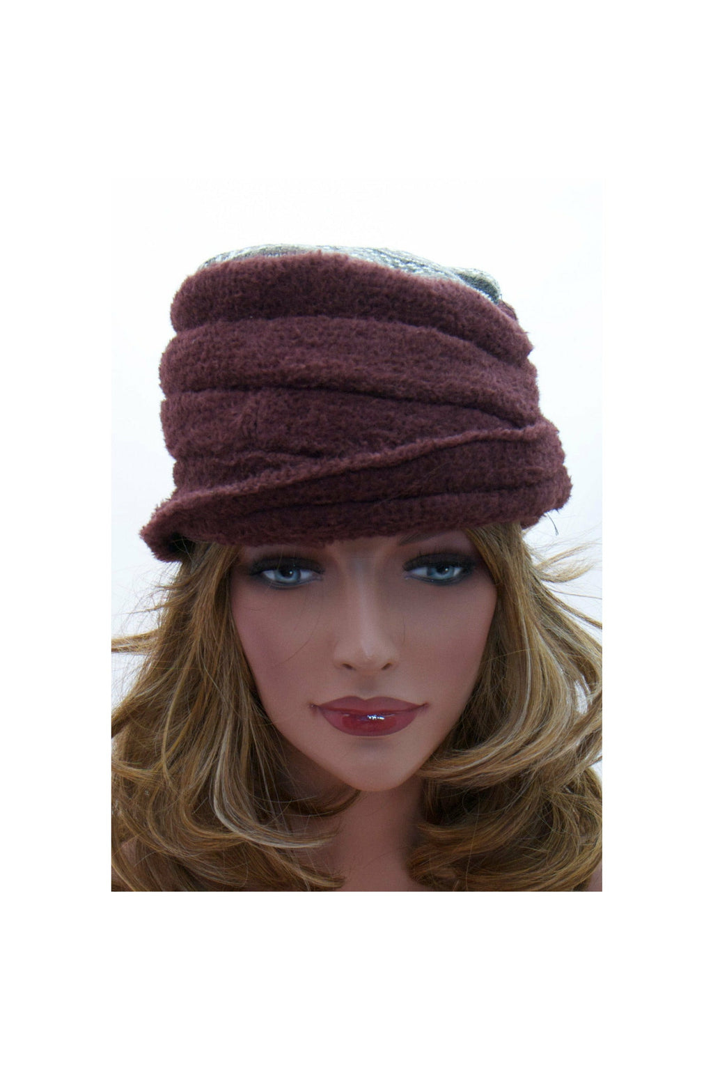 Winter hats-brown-cloche hat-beanie hats - RelovedFabrics,Hats/Chapeaus/Head Gear - accessories, [product-vendor] - Robin, [shop-name] - robin.boutique