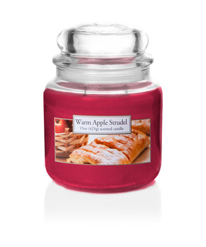 Carolina Scented Jar Candle, Warm Apple Strudel, 15 oz, Single