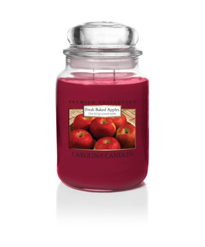 Carolina Scented Jar Candle, Fresh Baked Apples, 22 oz, Single