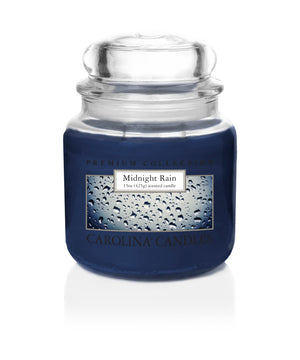 Carolina Scented Jar Candle, Midnight Rain, 15 oz, Single