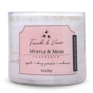 Carolina Scented Jar Candle, Finch & Vine, Myrtle & Moss, 14.5 Oz, Single