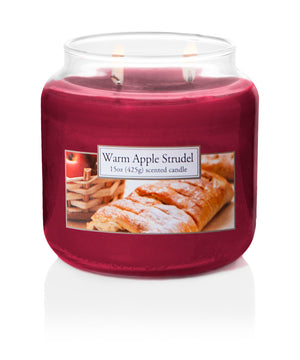Carolina Candle Scented Jar Candle, Warm Apple Strudel, 15 oz, Single