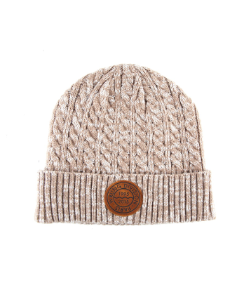 Hudson Heather Beige Beanie, 9Couture - 9Couture