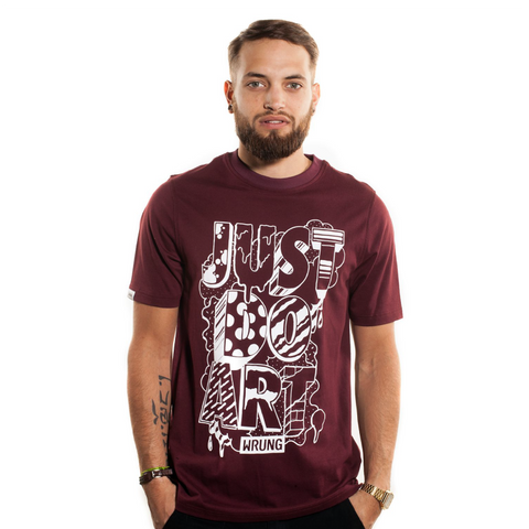 Just Do Art Burgundy Red T-shirt, 9Couture - 9Couture