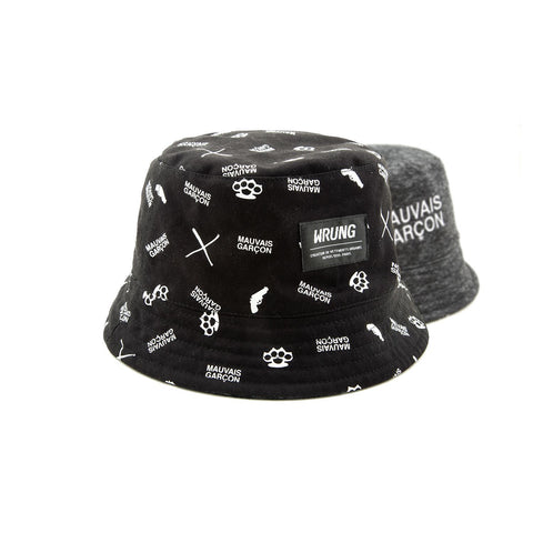 Criminel Reversible Bucket Hat, 9Couture - 9Couture