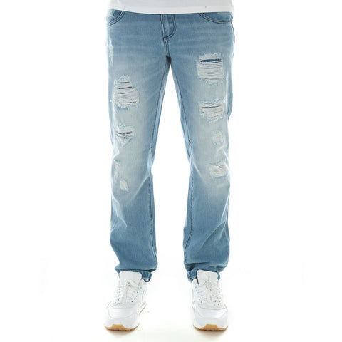 Wrung Destroyed Slim Jeans, 9 Couture - 9Couture