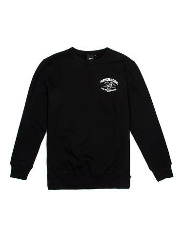 Crime Crewneck Black Sweater, 9 Couture - 9Couture