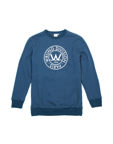 FLO BLUE CREWNECK SWEATER, 9 Couture - 9Couture