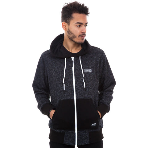 Mauvas Gars Zippered Hoodie, 9 Couture - 9Couture
