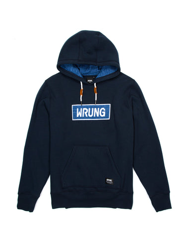 Name Box Navy Blue Hoodies, 9 Couture - 9Couture
