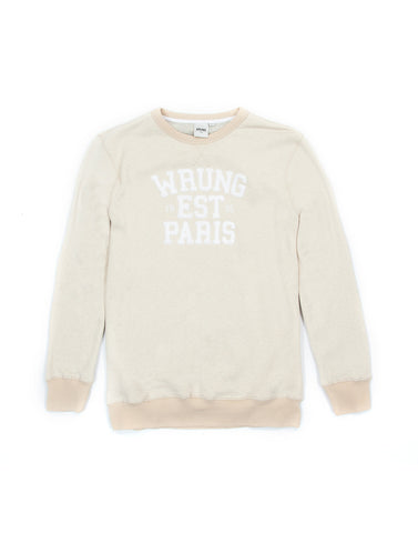 Parigo Crewneck Beige Sweater, 9 Couture - 9Couture