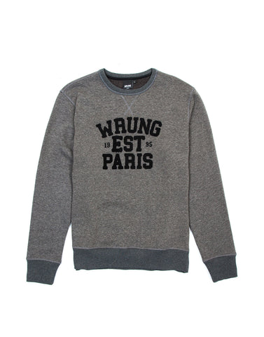 Parigo Dark Heather Grey Crewneck Sweater, 9 Couture - 9Couture