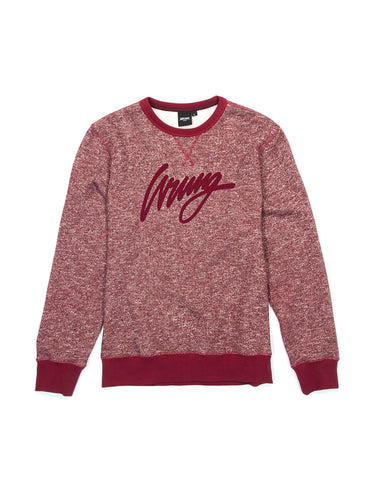 Sign Heather Burgundy Crewneck Sweater, 9 Couture - 9Couture