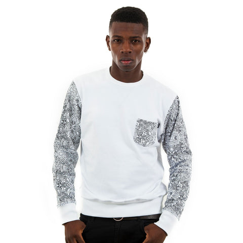 Wrung Tribe Crewneck Sweater, 9 Couture - 9Couture