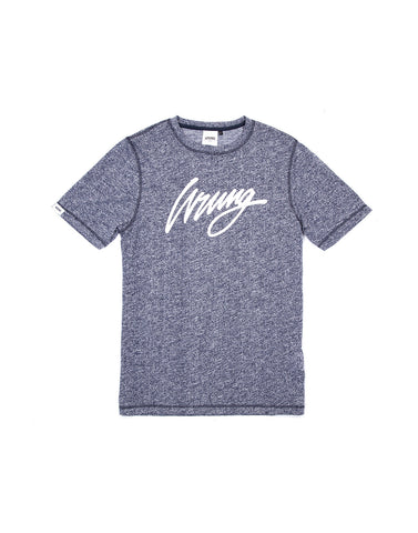 Signature Heather Blue Tshirt, 9 Couture - 9Couture