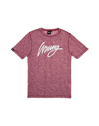 Signature Heather Burgundy Tshirt, 9 Couture - 9Couture