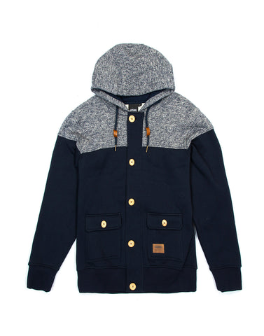 Deen Navy Blue Hoodies, 9 Couture - 9Couture