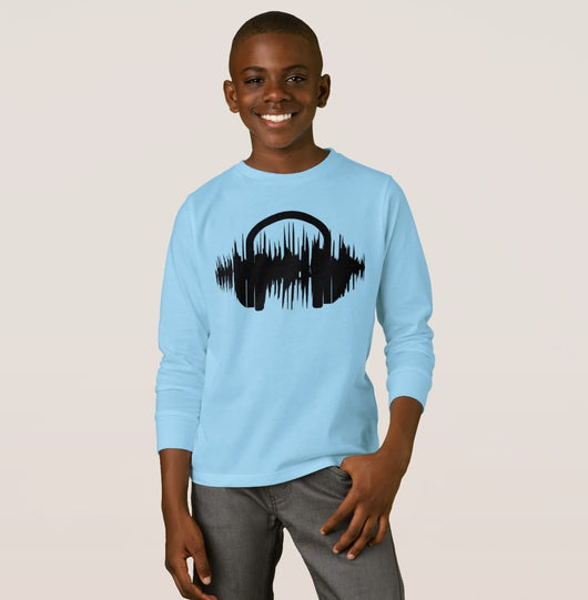 Drop that Beat Boy's Basic Long Sleeve T-Shirt