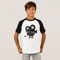 Film Boy's Short Sleeve Raglan T-Shirt