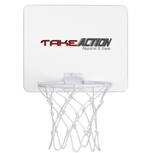 Take Action Logo Mini Basketball Goal