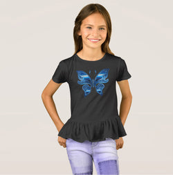 Butterfly Effect Girl's Ruffle T-Shirt