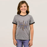 Chocolate Girl's Ringer T-Shirt