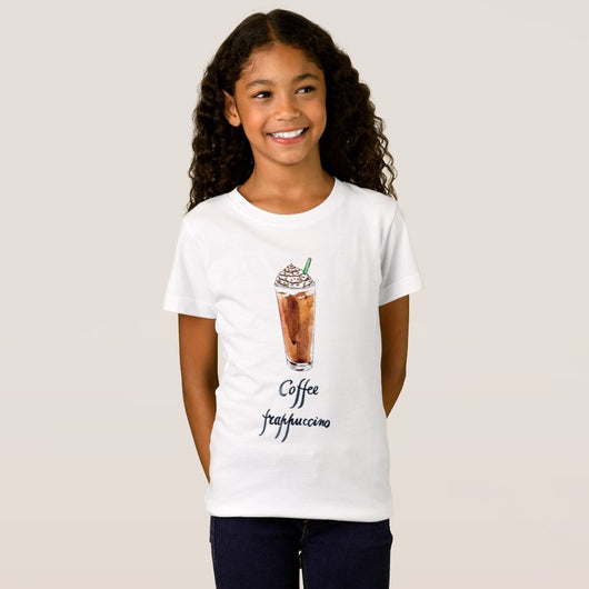 Coffee Frappucino Girl's Fine Jersey T-Shirt