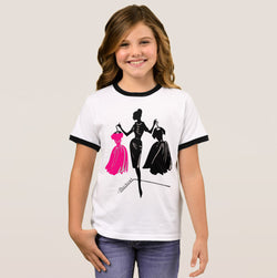 Decisions Girl's Ringer T-Shirt