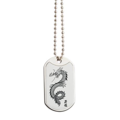 Dragon Dog Tag - Take Action Apparel & Gear