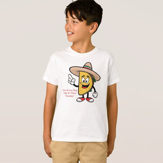 Taco Tuesday Boy's Hanes TAGLESS® T-Shirt