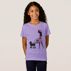 Poodle Girl's Fine Jersey T-Shirt